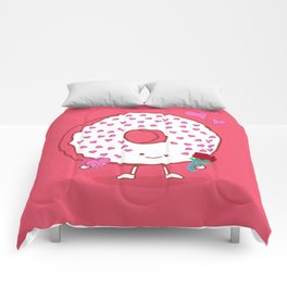 The Donut Valentine Comforters