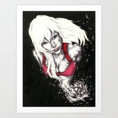 White Smile Art Print