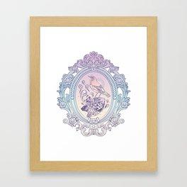 Bird and Stone Vintage framed Framed Art Print