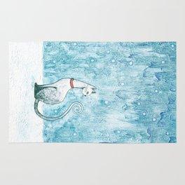 Winter Cat Rug