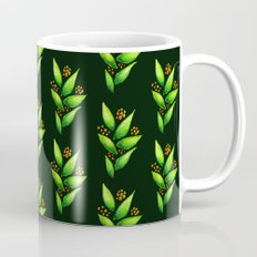 Abstract Watercolor Green Plant With Orange Berries Mug
