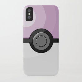 Lilac Pokeball iPhone Case