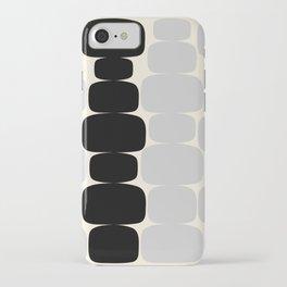 Abstraction_Balance_ROCKS_BLACK_WHITE_Minimalism_001 iPhone Case