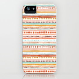 Boho Stripes - Watercolour pattern in rusts, turquoise & mustard. Nursery print iPhone Case