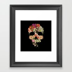 Skull Floral Decay Framed Art Print