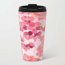"""flowers2"" Metal Travel Mug"