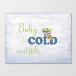 Winter love - socks Canvas Print