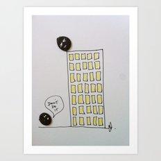 Button suicide. Art Print