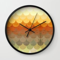 Half Circles Waves Color Wall Clock