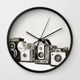 Camera Line Up Wall Clock