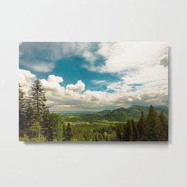 Alps meet Sky Metal Print