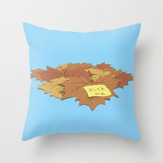 Kick Me Throw Pillow