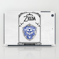 legend of zelda iPad Cases featuring Zelda legend - Hylian shield by Art & Be