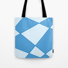 Geometric abstract - blue. Tote Bag