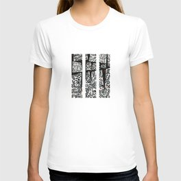 Black leaves on abstract background T-shirt