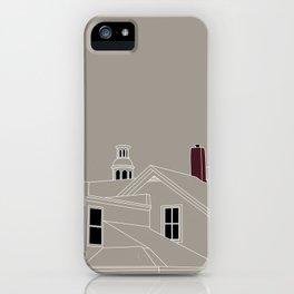 Cityscape Urban Illustration in Warm Grey iPhone Case