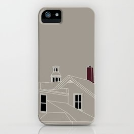 Cityscape Urban Illustration in Warm Grey iPhone Case