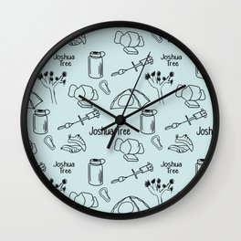 Blue Joshua Tree Print Wall Clock