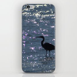 Egret Heron Silhouette iPhone Skin