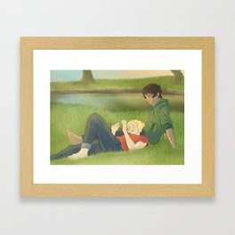 The Cynic and The Believer Framed Art Print