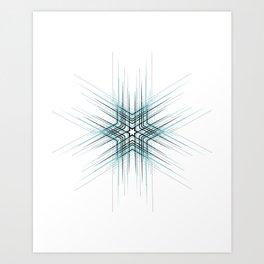 Sky blue abstract cute star pattern Art Print