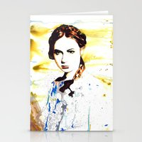 amy pond Stationery Cards featuring Karen Gillan (Amy Pond) by TheJollyRambler