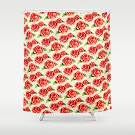 Floral Frosting Pattern Shower Curtain