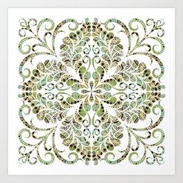 Spring Green Flourish Art Print
