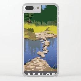 Explore Rock Lake Clear iPhone Case