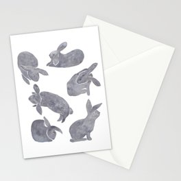 Bunny Poses Stationery Cards