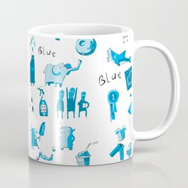 Blue Things Coffee Mug