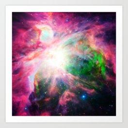 Orion NebuLA Colorful Purple Art Print