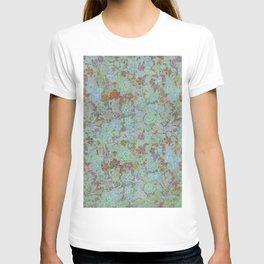 Flowers Under - Cool Colors T-shirt
