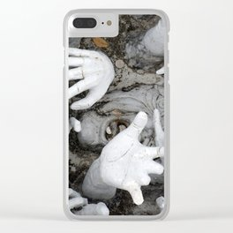 scream and hands Clear iPhone Case