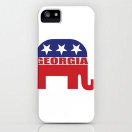 Georgia Republican Elephant iPhone Case