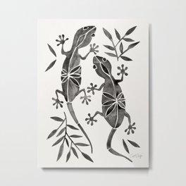 Geckos – Black Palette Metal Print