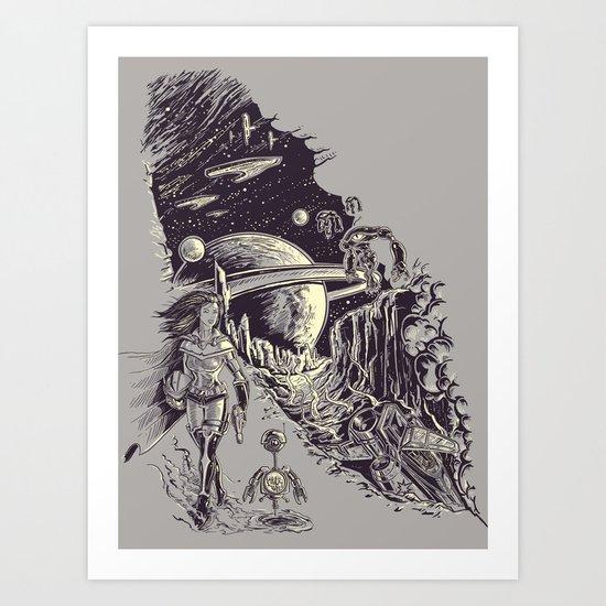 Stranded on Alpha Centauri Art Print