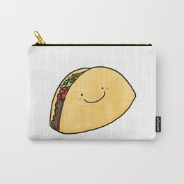 Cute Taco White Background Carry-All Pouch
