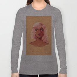 Pink Hair Long Sleeve T-shirt