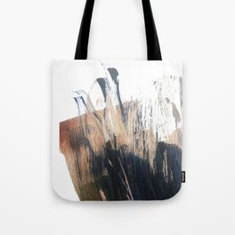 Clarity: a pretty, minimal abstract in rose gold and deep blue Tote Bag