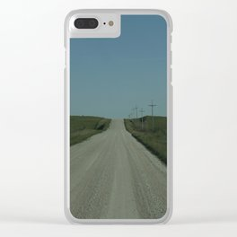 A Lonely Road Clear iPhone Case