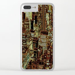 new york city skyscrapers Clear iPhone Case