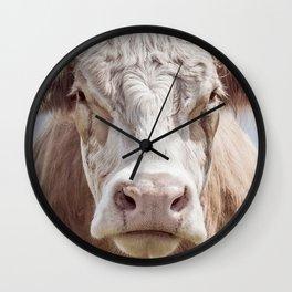 Cow Portrait Colour | Minimalism Wall Clock