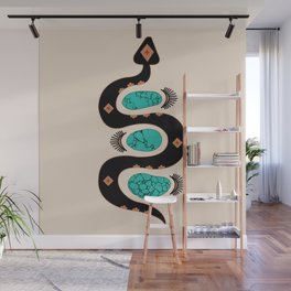 Southwestern Slither in Black Wall Mural