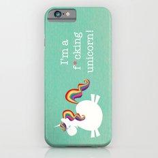 Unicorn - I'm a maturely speaking unicorn!!! iPhone 6 Slim Case
