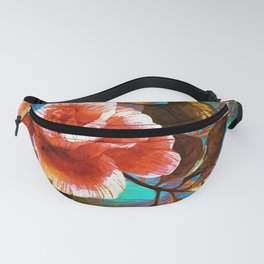 rose on abstract background Fanny Pack