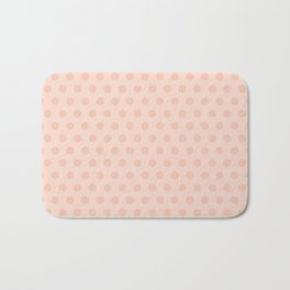 Coral polka dots Bath Mat