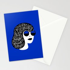 Wear Your Shades On Those Winter Days Stationery Cards