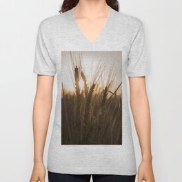 Wheat Holding the Sunset Unisex V-Neck