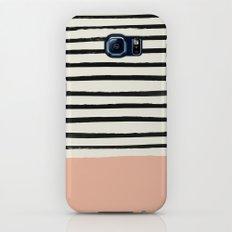 Peach x Stripes Slim Case Galaxy S7
